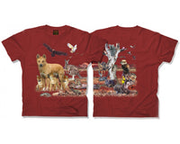 Australian Outback Habitat Adults T-Shirt (Rust)