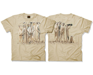 Meerkats Double-Sided Adults T-Shirt (Sand)