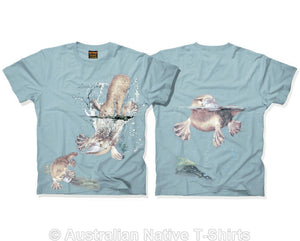 Australian Platypus Adults T-Shirt (Dusty Blue)