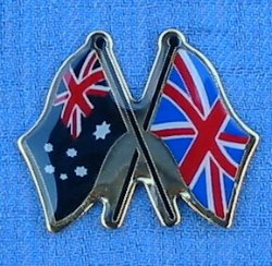 Australian Flag with Union Jack Metal Badge