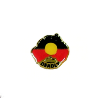 Aboriginal Flag Australia Map Deadly Badge