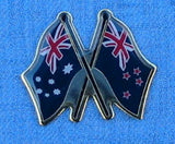 Australian Flag with New Zealand Flag Badge
