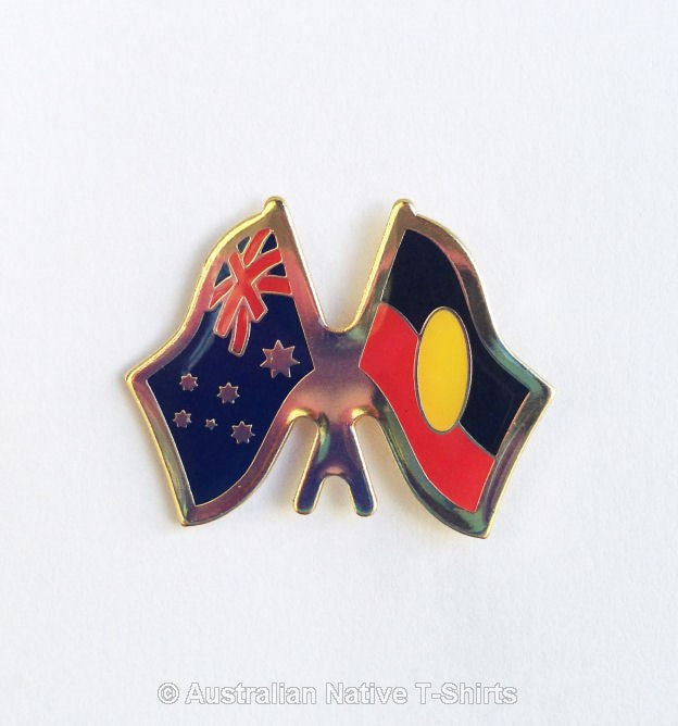Aboriginal & Australian Flag Badge Hat Pin
