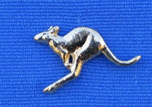 Flying Kangaroo Hat Lapel Pin