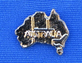 Australia Map Hat Lapel Pin