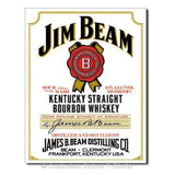 Jim Beam - White Label Tin Sign (31.5cm x 40.5cm)