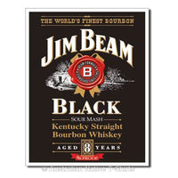 Jim Beam - Black Label Tin Sign (31.5cm x 40.5cm)