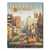 San Francisco Travel Poster Tin Sign (31.5cm x 40.5cm)