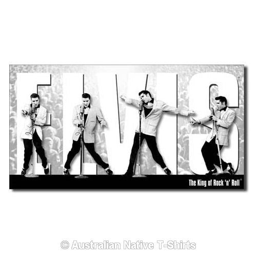 Elvis Presley King Montage Tin Sign (40.5cm x 21.5cm) - Minor Scratches in Design