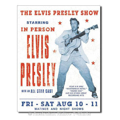 The Elvis Presley Show Tin Sign (40.5cm x 31.5cm)