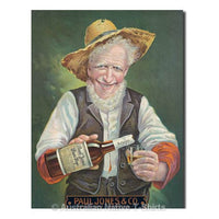 Paul Jones Rye Whiskey Tin Sign (30.5cm x 40.5cm)