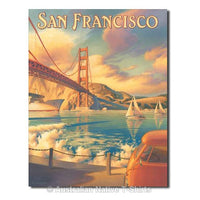 Golden Gate Bridge Travel Tin Sign (31.5cm x 40.5cm)