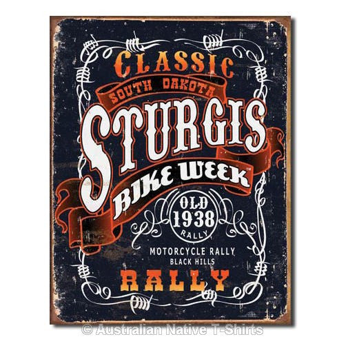 Sturgis Classic Rally Biker Tin Sign (31.5cm x 40.5cm)