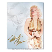 Marilyn Monroe Gold Dress Tin Sign (31.5cm x 40.5cm)