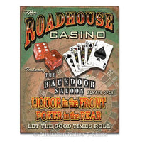 Roadhouse Bar & Casino Tin Sign (31.5cm x 40.5cm)
