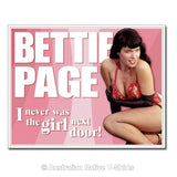 Bettie Page Pinup Not The Girl Next Door Tin Sign (40.5cm x 31.5cm)