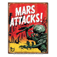 Mars Attacks Tin Sign (40.5cm x 31.5cm)