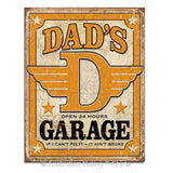 Dad's Garage Vintage Style Tin Sign (31.5cm x 40.5cm)