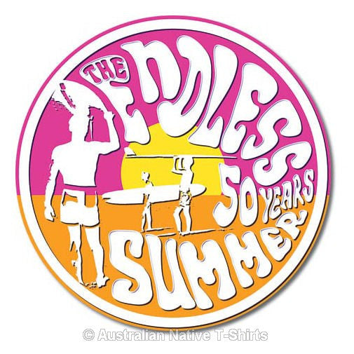Endless Summer 50th Anniversary Tin Sign (29cm Diameter)