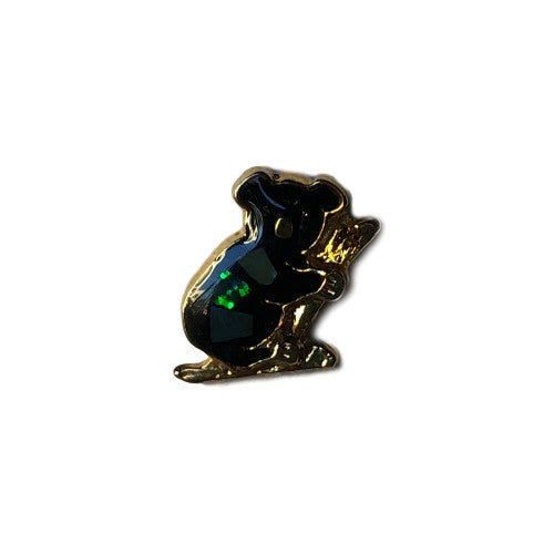 Koala with Opal Inlay Hat Lapel Pin