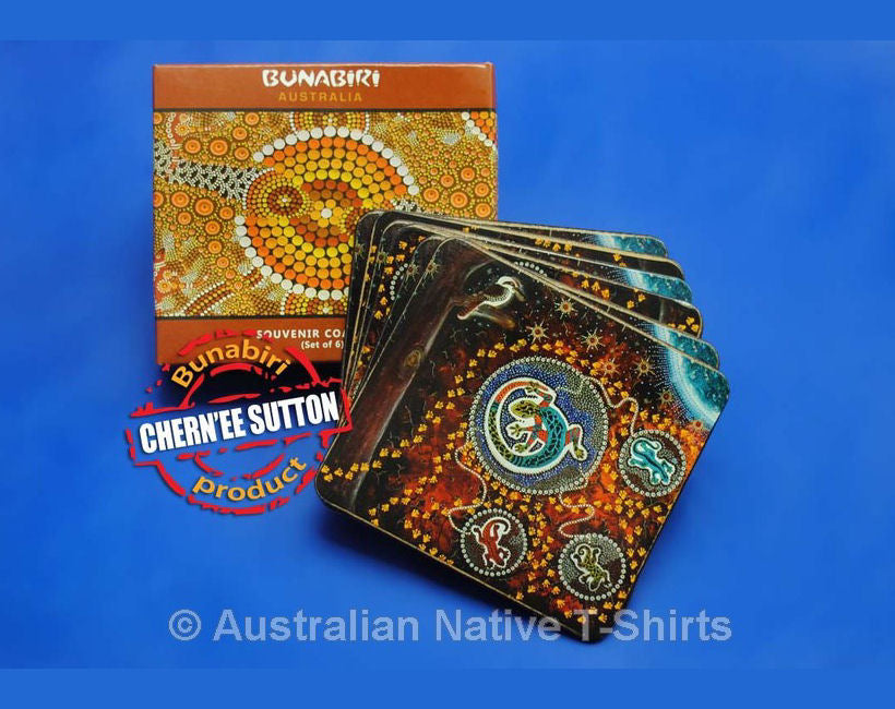 Llipari Aboriginal Art Coasters - Set of 6