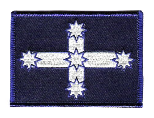 Eureka Flag Rectangular Iron On Patch