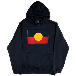 Aboriginal Flag Hoodie (Black, True Colour)