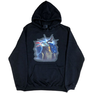 Australian Flag Wedge Tail Eagle Hoodie (Black)
