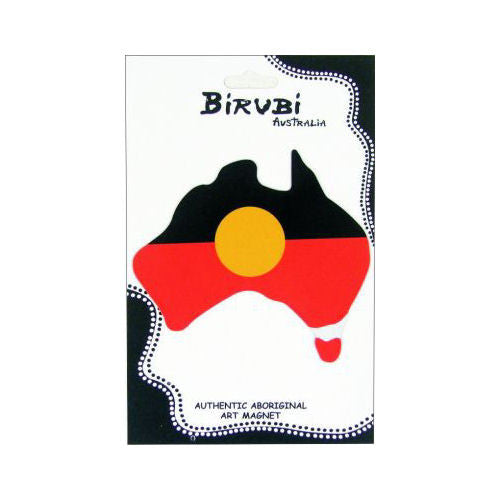 Aboriginal Flag Australia Map Fridge Magnet