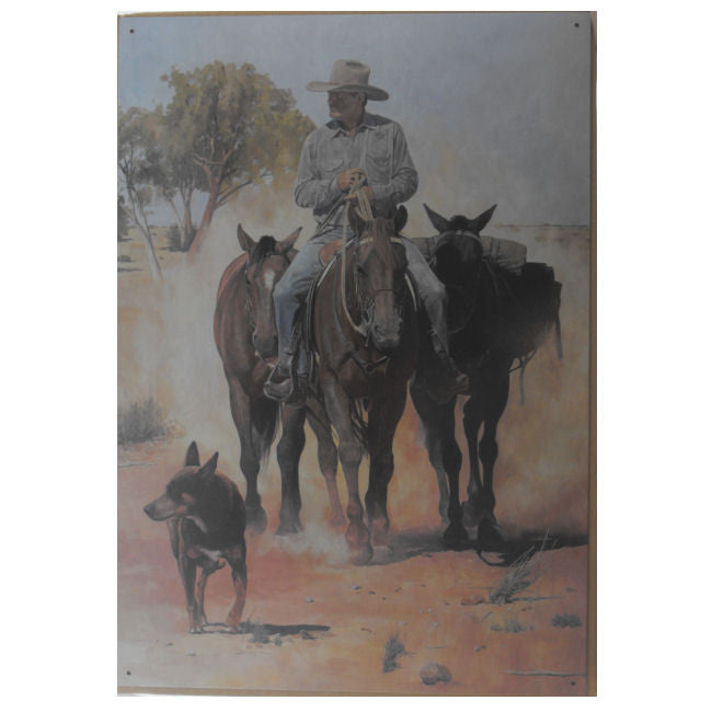 Stockman & Packhorses Tin Sign (35cm x 50cm)
