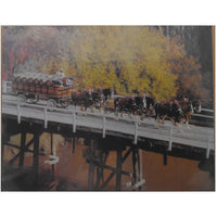 Clydesdale Horses on Bridge Tin Sign (31.7cm x 40.5cm)