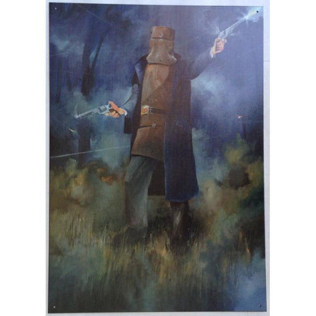 Ned Kelly Glenrowan Shootout Tin Sign (35cm x 50cm)