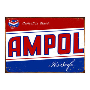 Ampol It's Safe Tin Sign (50cm x 35cm)