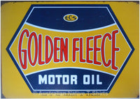 Golden Fleece Motor Oil Tin Sign (50cm x 35cm)