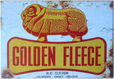 Golden Fleece Ram Tin Sign (White) (50cm x 35cm)