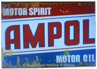 Ampol Motor Oil Tin Sign (50cm x 35cm)