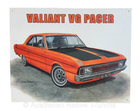 Valiant VG Pacer 2 Door Tin Sign (40.5cm x 31cm)