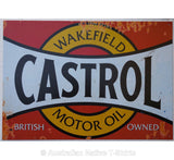 Castrol Motor Oil Red Tin Sign (50cm x 35cm)