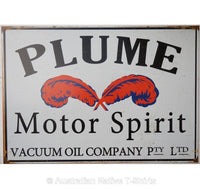Plume Motor Spirit Tin Sign (50cm x 35cm)