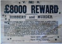 Kelly Gang £8000 Reward Tin Sign (35cm x 50cm)