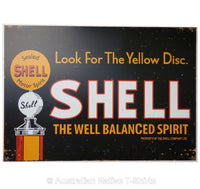 Shell Look For Yellow Disk Tin Sign (50cm x 35cm)