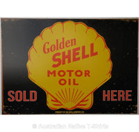 Golden Shell Motor Oil Tin Sign (50cm x 35cm)