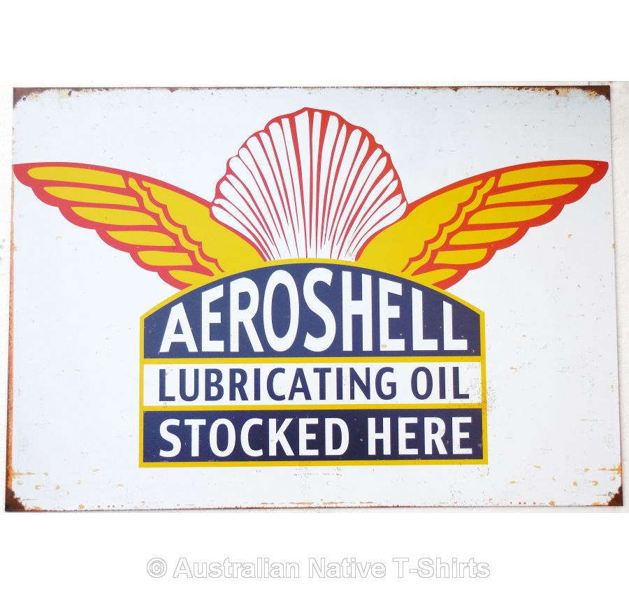 Shell AeroShell Tin Sign (50cm x 35cm)