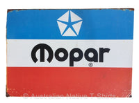 Mopar Logo Rusted Look Tin Sign (50cm x 35cm)