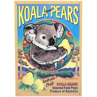 Koala Pears Tin Sign (28.5cm x 40.5cm)