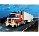 Kenworth Truck K100 Open Road at Night Tin Sign (50cm x 35cm)