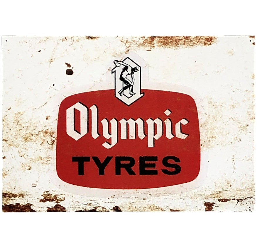 Olympic Tyres Tin Sign (50cm x 35cm)