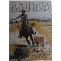Akubra Hats Advertisement Tin Sign (35cm x 50cm)
