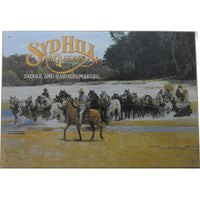 Syd Hill & Sons Saddle Makers Tin Sign (50cm x 35cm)