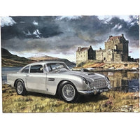 Aston Martin DB5 Skyfall Tin Sign (50cm x 35cm)